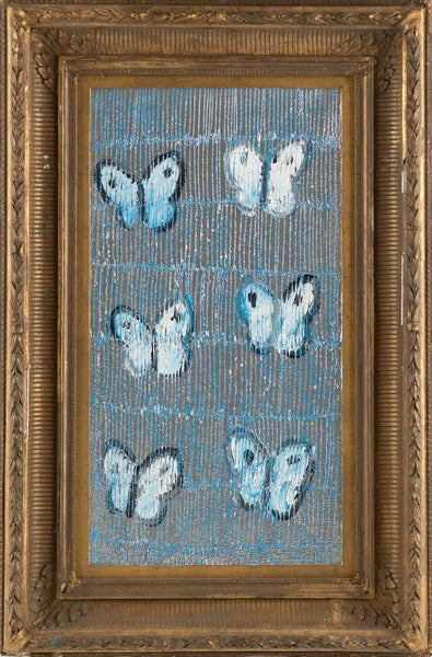 Original Blue Ascension Butterfly Painting Contemporary Art
