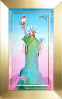 "Original Acrylic Painting on Canvas ""Statue of Liberty"""