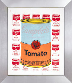 Campbells Tomato Soup Warhol Famous Assistant,  Pop Art Oil Painting