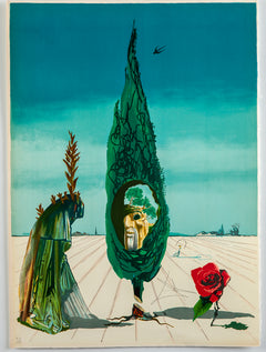 Enigma of The Rose (Death) — Contemporary Art Surrealist Lithograph