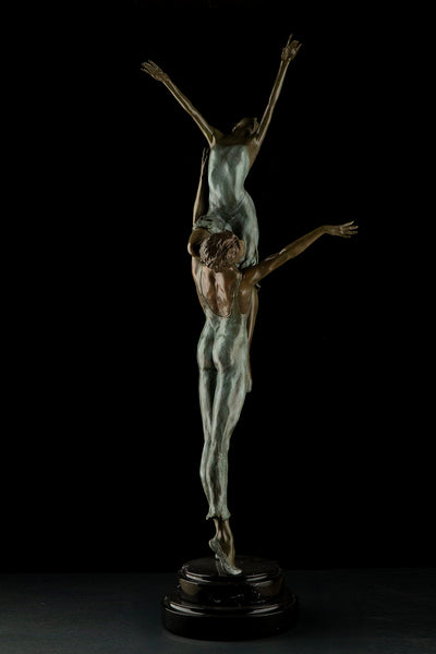 ''The Rehearsal'' Bronze Sculpture Contemporary Art Dance Performance