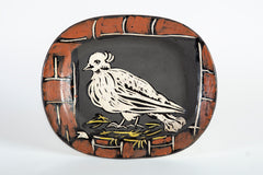 Pable Picasso Colombe Mate ceramic Sculpture Plate