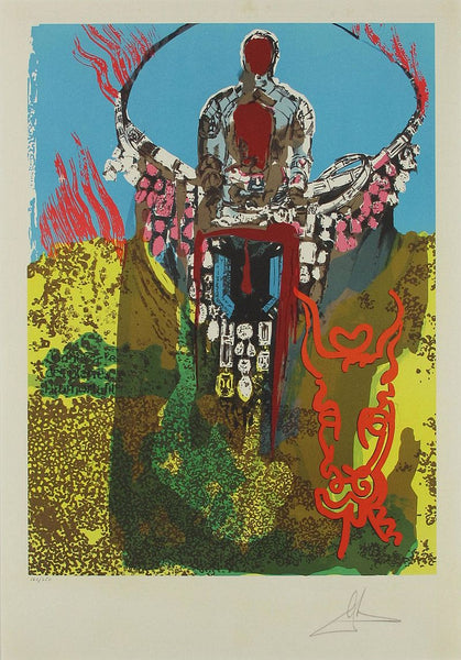 The Bullfighter (The Golden Calf), Lithograph paper contemporary art