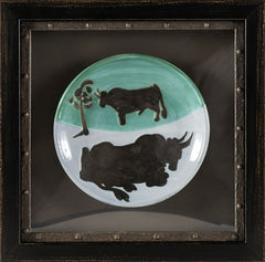 Pable Picasso Ceramic Plate 1952 Ramie Toros A.R. 161 Edition of 500