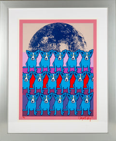 George Rodrigue Codex Blue Dog Signed Silkscreen Contemporary Art