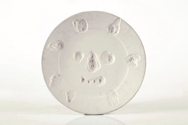 "Pable Picasso Original Pablo Picasso Dual Sided Ceramic AR 349, 350 ""Face with Spots"" ""Mat Face"""