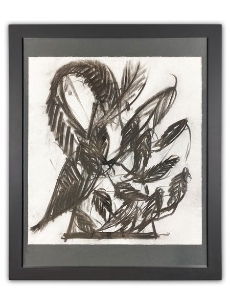 Dale Chihuly Untitled Venetian Charcoal Contemporary Art Drawing