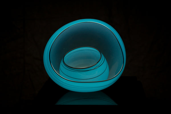 Dale Chihuly Blue Sky Basket Set Sold Out Retired Edition