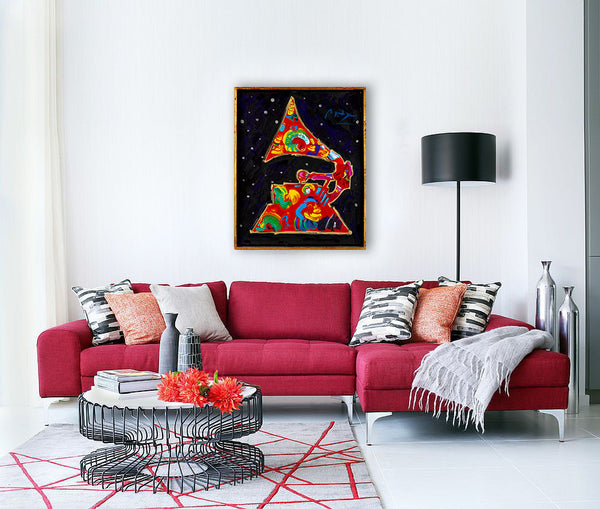 "Grammy Vol 11 ""91"" Acrylic on canvas Painting Contemporary art painting, Hollywood award"