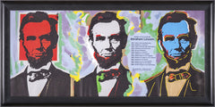 Abe Abraham Lincoln Warhol Famous Assistant Oil Painting Canvas