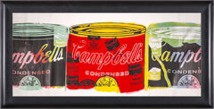 Steve Kaufman Campbells Soup Trio Warhol Famous Assistant Pop Art Painting