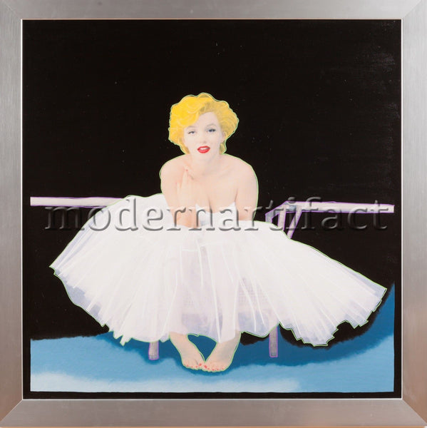 Steve Kaufman Marilyn Monroe Pop Art Original Oil Painting Framed COA Documented