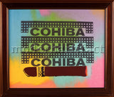 Steve Kaufman Cigar Cohiba Bar Man Cave Theater Large Original Oil Painting