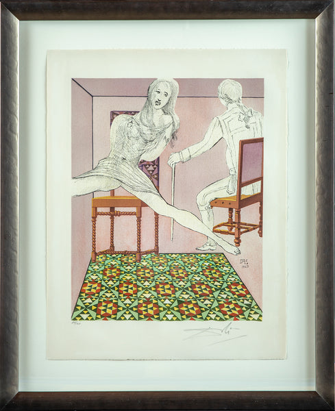 Marianne and the Chevalier, Contemporary Art Surrealist Lithograph
