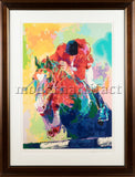 Olympic Jumper Horse Racing Limited Edition Painting Serigraph