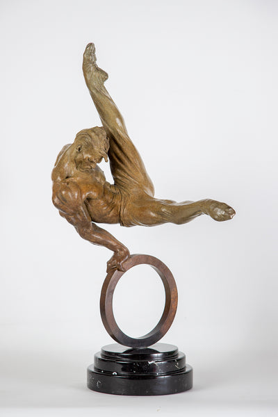 Richard MacDonald Gymnast Flair 1/3 life Fine Art Sculpture Icon, Best offer