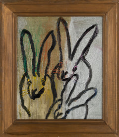 Hunt Slonem 3 Play Bunny Painting Contemporary Art