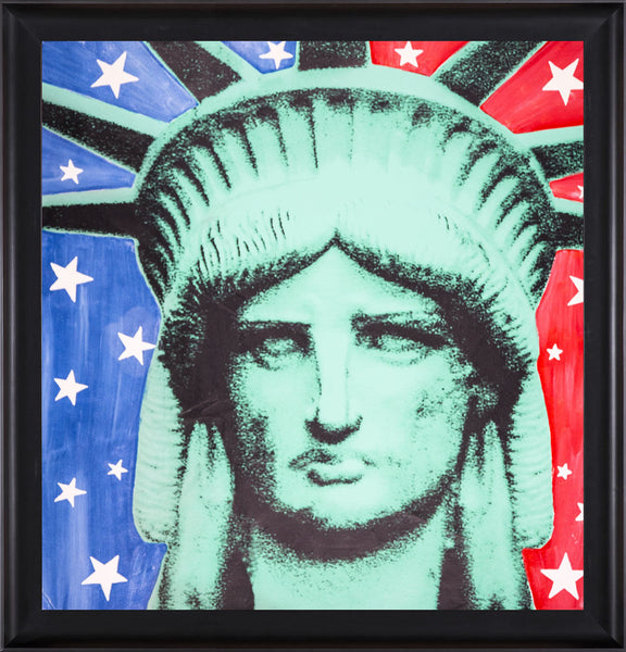 Massive Lady LIberty Warhol Famous Assistant Oil Painting Canvas