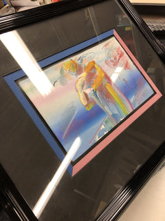 Original Untitled Peter Max Drawing signed contemporary art