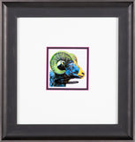 Big Horn Ram Hand Signed Endangered Specie Gallery Announcement Invitation