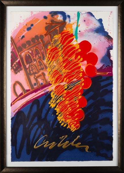 Untitled Serigraph from Chihuly over Venice Handblown Glass Installation Signed Print Contemporary Art