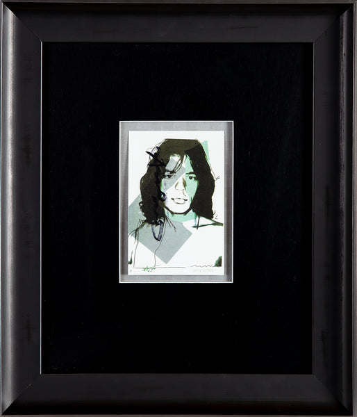 Andy Warhol Mick Jagger FS.II.138 Hand Signed Gallery Announcement Invitation