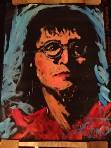 Denny Dent John Lennon 94 Original Painting Museum Quality Beatles 67x53 Signed