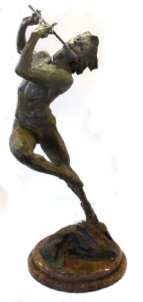 Richard MacDonald Flutist Half Life Bronze Sculpture Signed Contemporary Art