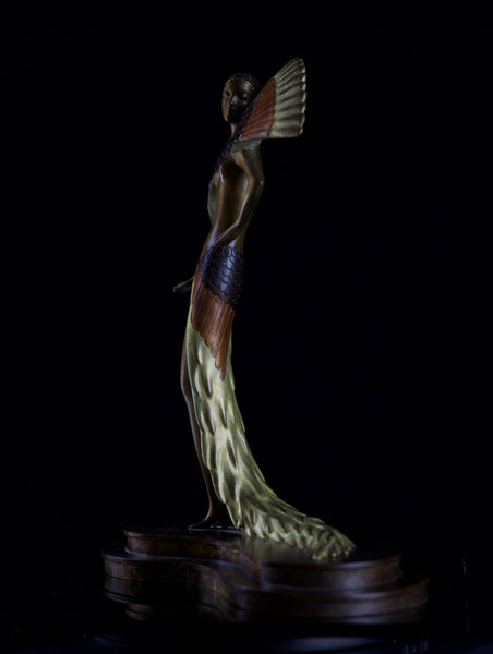 Erte Ibis Bronze Sculpture Art Deco Signed