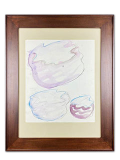Dale Chihuly Taos Baskets Pastel and Watercolor Drawing Contemporary Art Painting