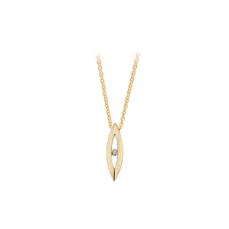 Gold Navette Necklace