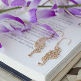 Twist Beaded Chain Earrings Rose