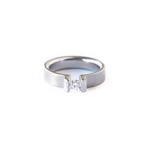Steel & Diamond Victory Ring