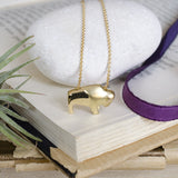 18K gold ralphie buffalo pendant colorado university