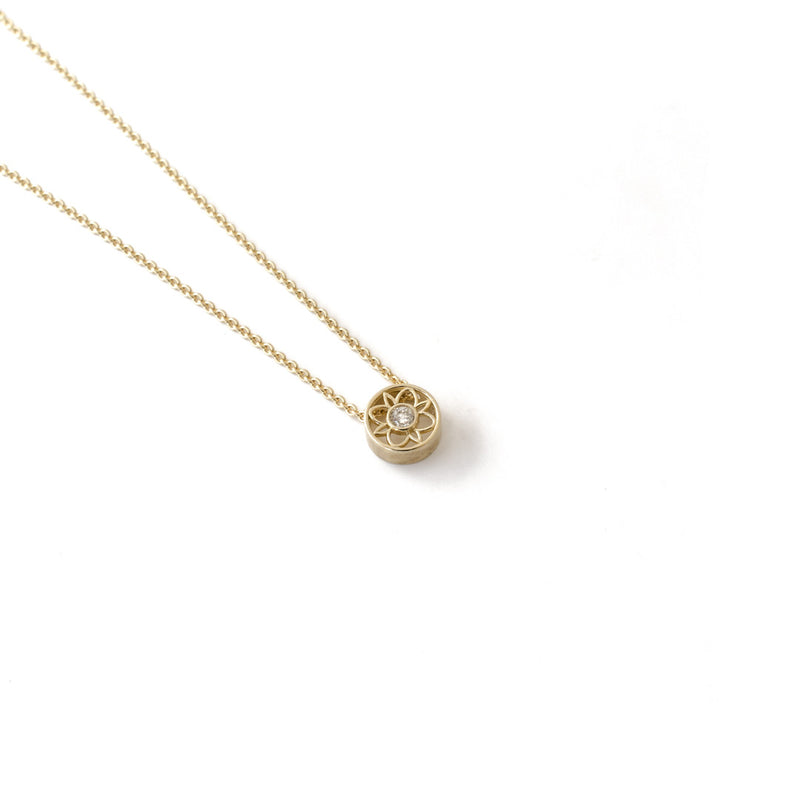Yellow Gold Blossom Pendant