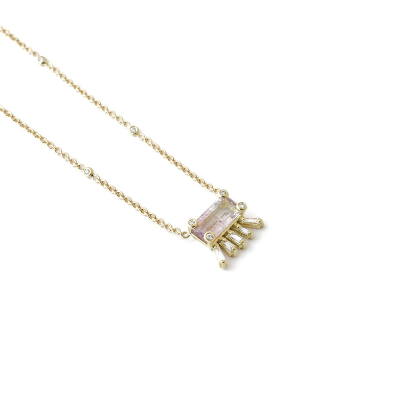 Funky Cute Tourmaline & Diamond Necklace