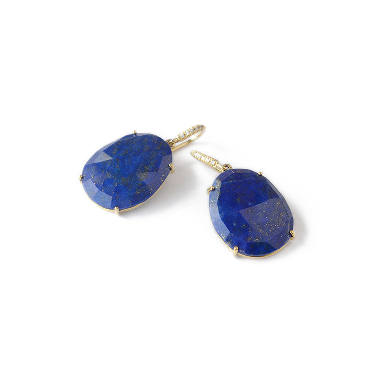 natural lapis stm earrings lazuli