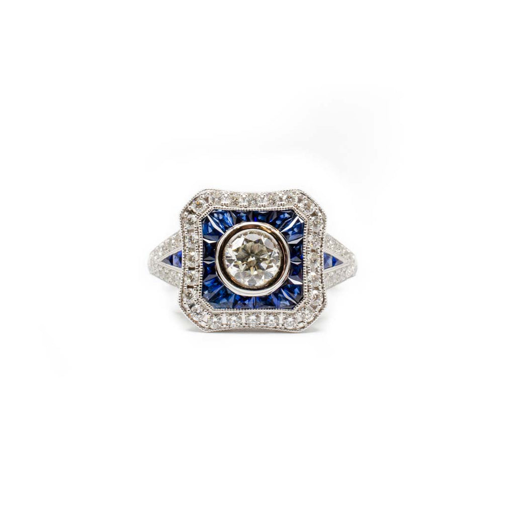 Specialty Cut Sapphire Ring
