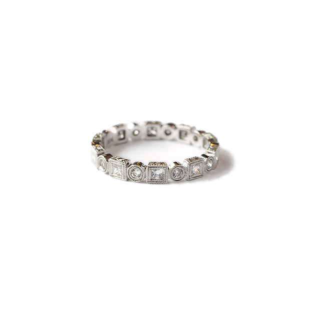 Princess and Rounds Eternity Band