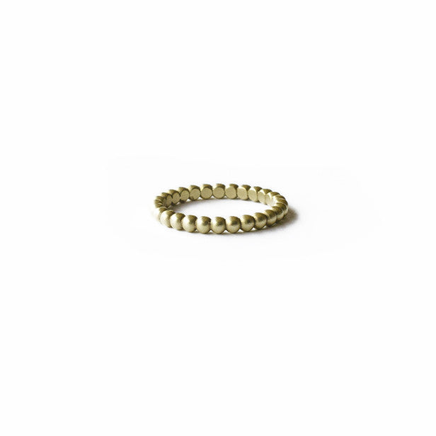J's Signature Green Gold Orb Ring