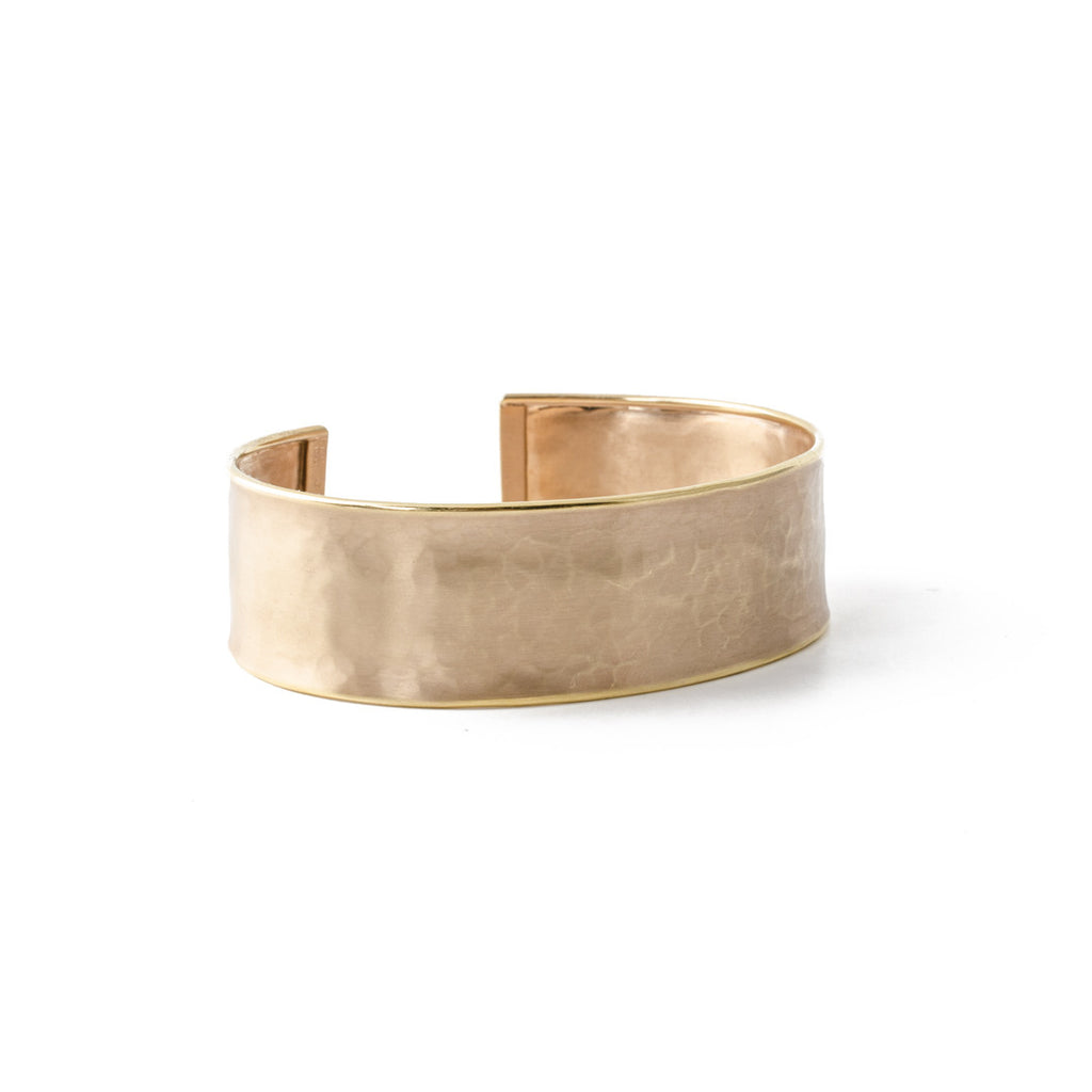 Hammered Cuff in Rose