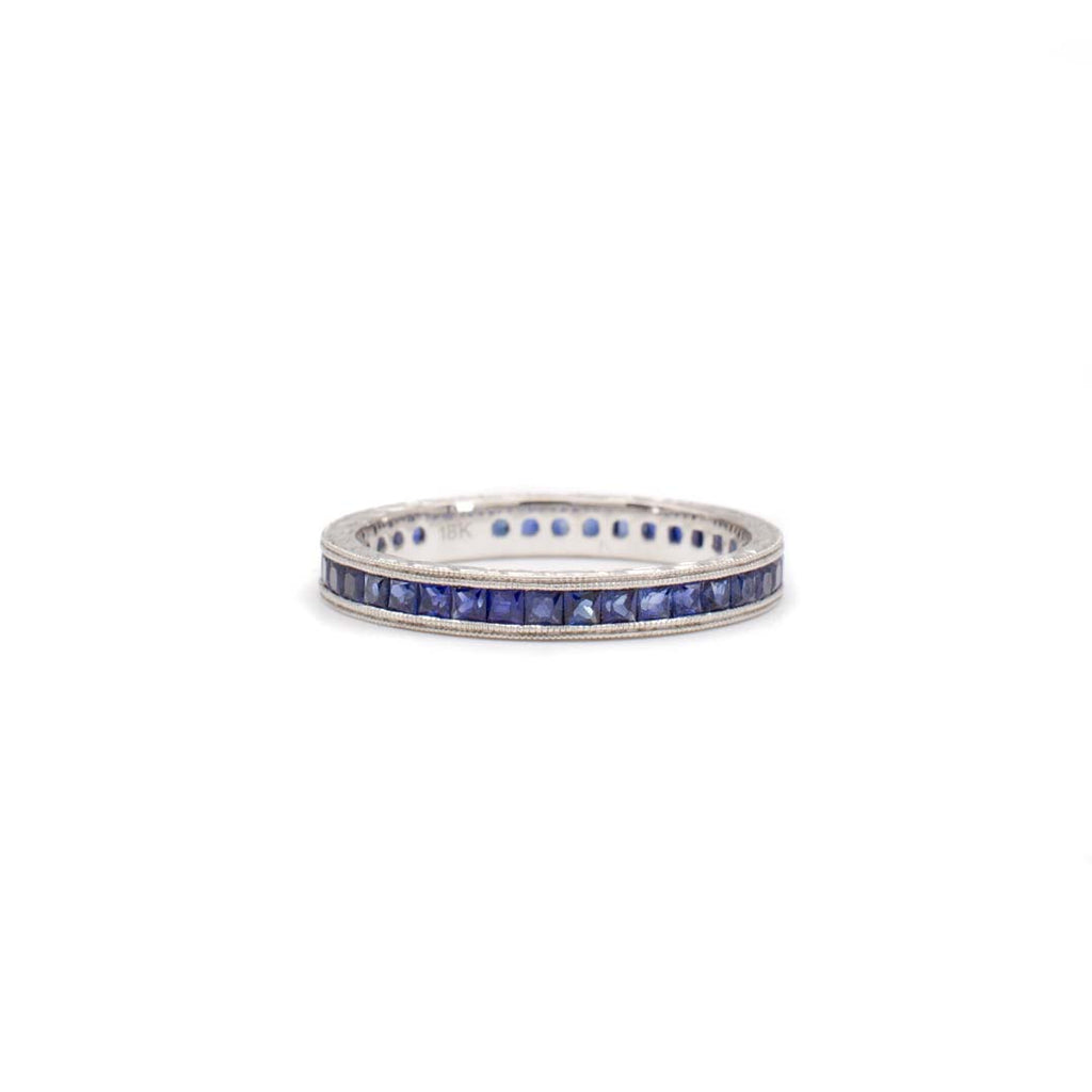 French Cut Sapphire Eternity Ring