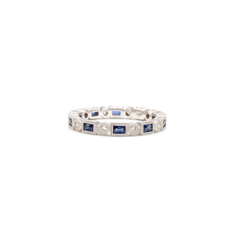 Sapphire Baguette Band