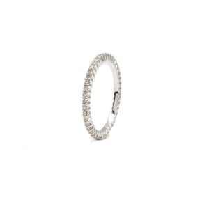 Tiny Shared Prong Eternity Band