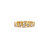 Round and Princess Cut Diamond Eternity Band