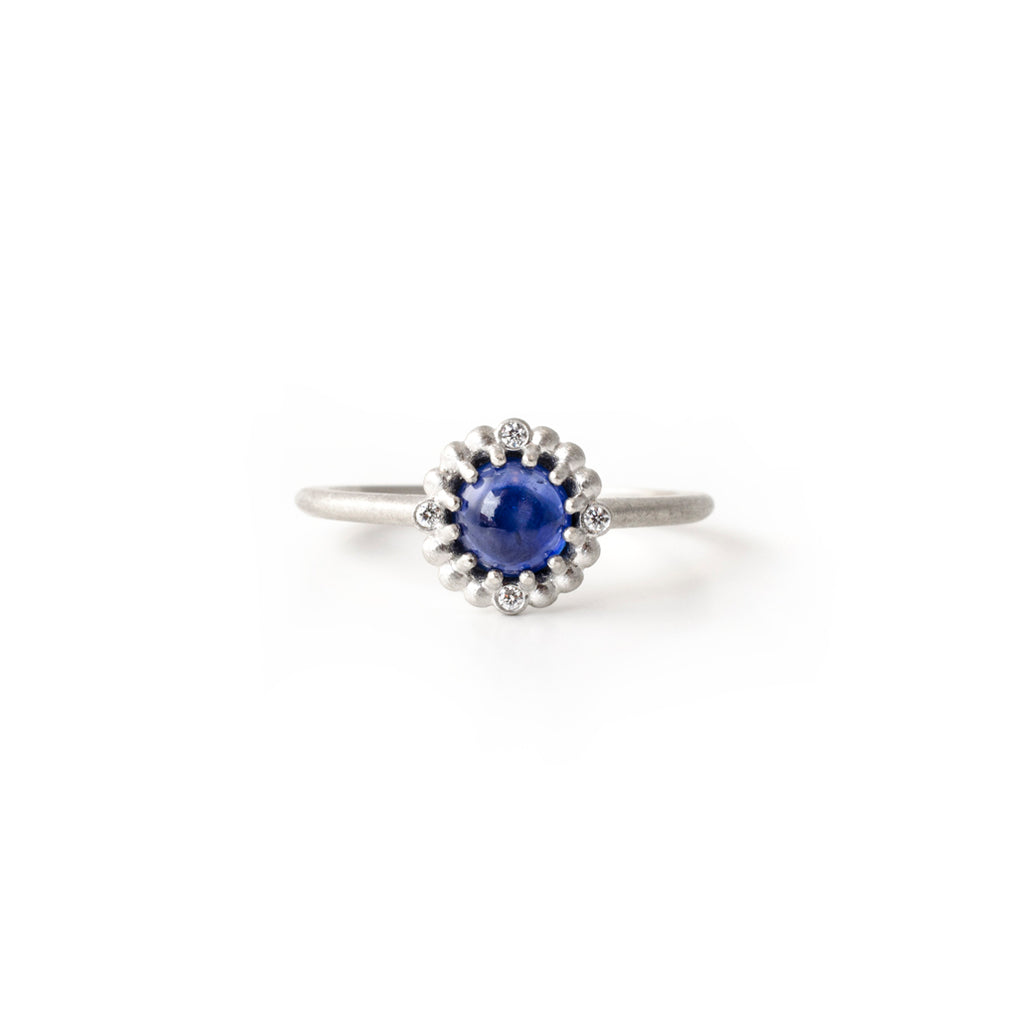 Orb Halo Ring (Cabochon Sapphire)