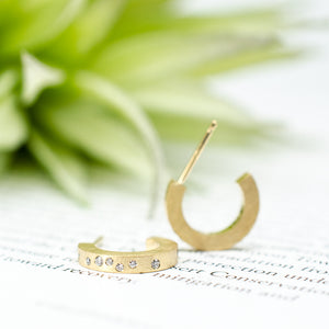 Small Galaxy Hoops Yellow