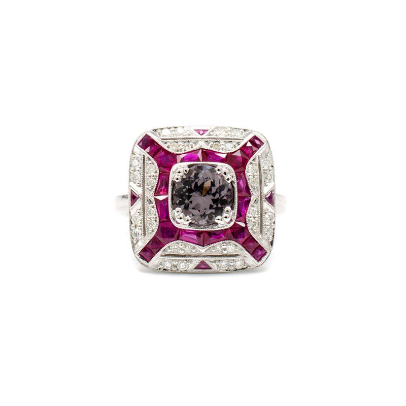 Deco Ruby Ring