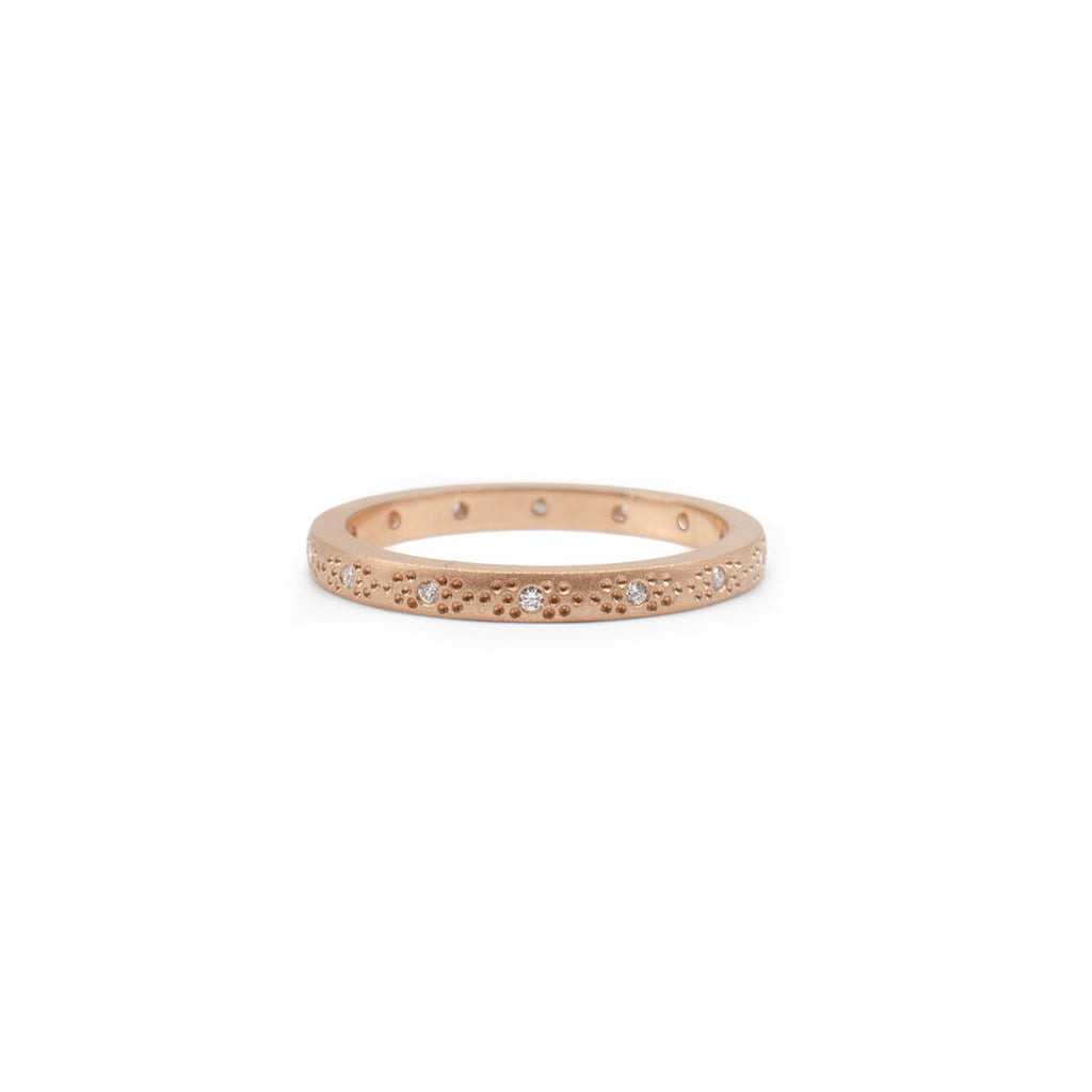 Rose Gold Thin Pattern Band