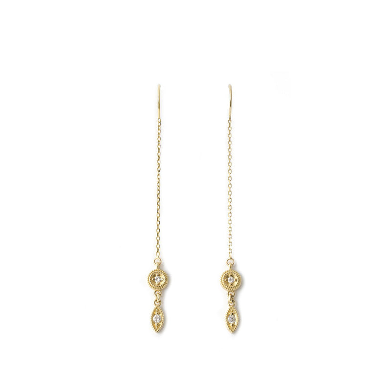 Yellow Gold Threader Earrings